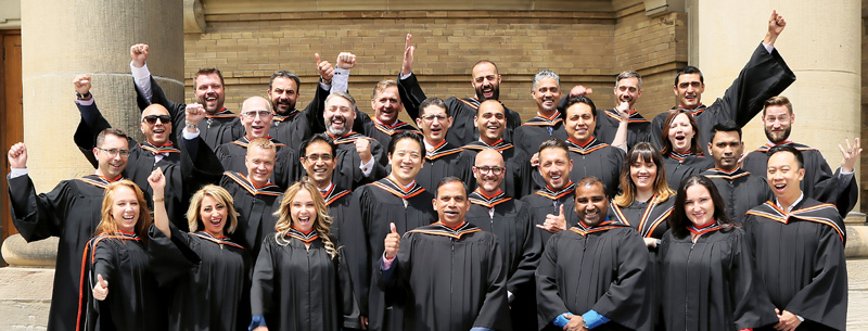Photo of EMBA class of 2016 during convocation