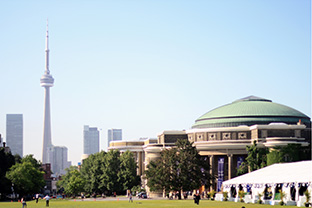 University of Toronto campus with CN Tower in background