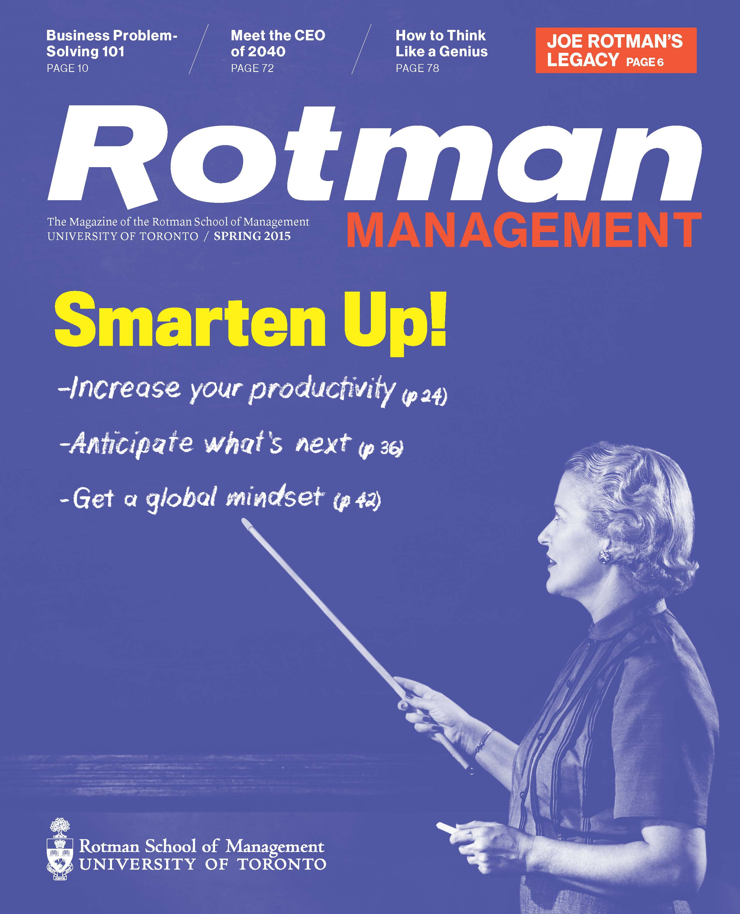 Rotman Management Spring 2015 Cover